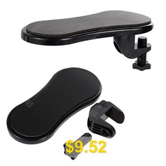 Attachable #Computer #Table #Arm #Support #Hand #Wrist #Rest #Mouse #Pad #- #BLACK