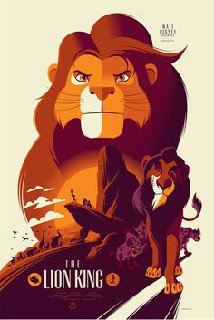 Reinvented Disney posters by Mondo-The Lion King