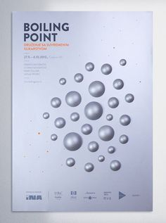Boiling Point by Mireldy , via Behance #poster #silver #craft #point #3d #boiling