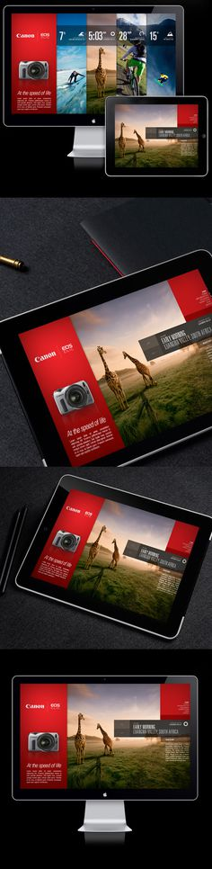 Canon EOS M / Campaign Microsite on Behance #web #interface