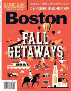 Boston Magazine #vector #city #travel #map #illustration