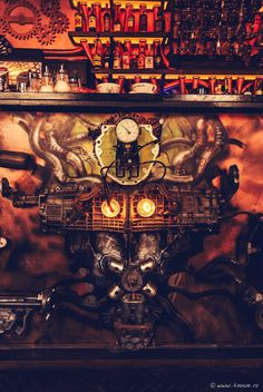 Steampunk-Themed Bar