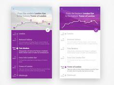 Free Timeline App UI Template