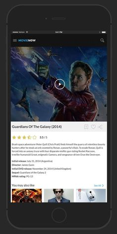 MovieNow – 7 Free Movie iPhone App Screens Design PSD