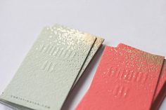 Belinda Love Lee - belindalovelee.com #branding #identity #business cards #gold #mint #coral #foiling