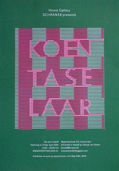 Schrank8 presents Koen Taselaar - www.hansje.net #cover #graphic #publication #typography