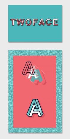 TWOFACE™ font