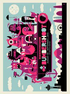 BUMBERSHOOT SCREEN PRINT | Limited Edition Gig Posters Archives - Methane Studios #screenprint