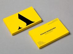 Collate #business card #yellow #layout