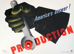 America's Answer! Production by Carlu, Jean | Vintage Posters at International Poster Gallery #illustration