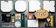 Work and… | studioastic | visuelle kommunikation #desktop #handcraft #typography #leisure #time #glue #work