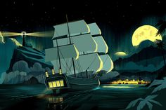 SS_OCS_HI_Ship_Night.jpg #illustration #ship