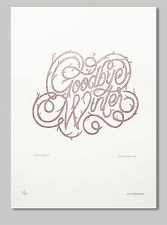 Essie Letterpress Limited Ed Jordan Metcalf #lettering #organic #poster