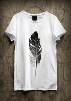 Feather t-shirt design #printing #design #graphic #shirts
