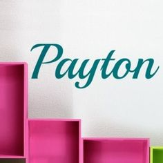 Cute name wall decal would look great in a girl's bedroom or dorm room. Or as a family name. Wall sticker from http://cozywallart.com #DIY