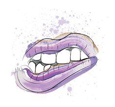 SMASHED! on Behance #illustration #lips #teeth #mouth #purple #design #art