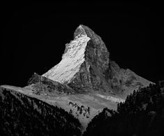Nenad Saljic #photography #black and white #mountains #matterhorn #cervino