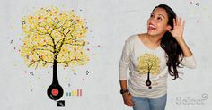 Sounds of Nature #fall #threadless #vinyl #autumn #tee #music #shirts