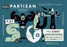 Pizza and a pint #beer #illustration #label