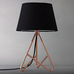 Buy John Lewis Albus Twisted Table Lamp, Black/ Copper Online at johnlewis.com #lamp #copper #design #lewis #product #john #lighting