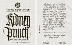 Kidney Punch - Joan Quirós #calligraphy #packaging #beer #design
