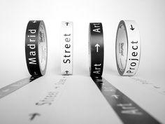 IS Creative - Madrid Street #tape #white #street #black #madrid