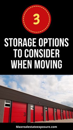 Storage Options When Moving