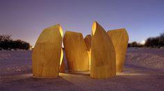 Winnipeg Skating Shelters / Patkau Architects, © James Dow #shelters #pavilions #plywood