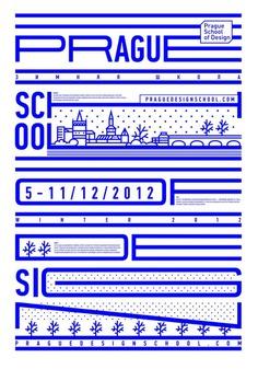 Identity for winter school of design in Prague