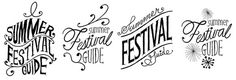 more information about Summer Festival Guide #lettering #hand