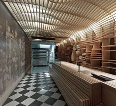 Dezeen » Blog Archive » Baker D Chirico by March Studio #interior design #wood #melbourne bakery