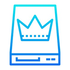 See more icon inspiration related to master, crown, hard disk, data storage, single, hardware, electronics, storage, server and computer on Flaticon.