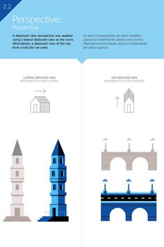 BBVA Corporative Illustration #illustration #vector #blue #city #building #diagram #perspective #mauco sosa