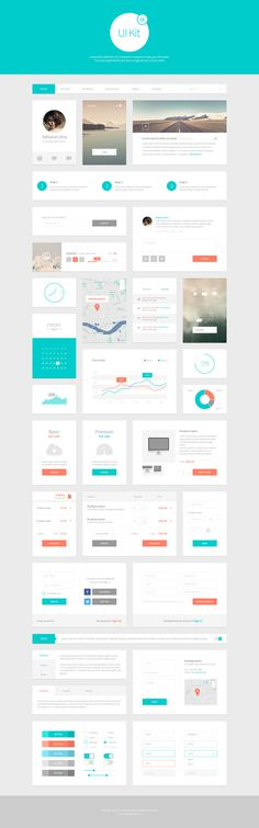 Alpha UI Kit - Web Elements - 1 #dashboard