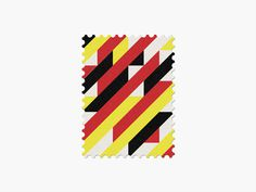 Belgium #stamp #graphic #maan #geometric #illustration #minimal #2014 #worldcup #brazil