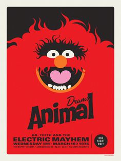 Muppets Electric Mayhem Poster #graphic design #red #poster design #muppets