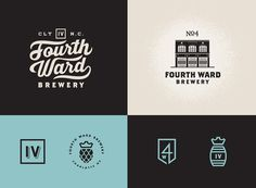 Fourth Ward Brewery Identity by Matt Stevens via www.mr-cup.com #brewery #logo #brand #identity
