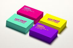 Pee-Pah Business Cards #business card #stationery #print