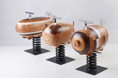 rocking, animal, outdoor #wood #toys #sculpture #fun