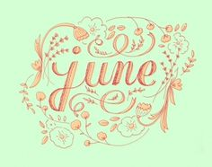Type Tuesday: June | Karli Ingersoll #illustration #lettering #flowers #typography