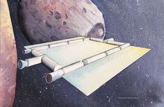 Water-Powered Spaceship Could Make Spaceflight Cheaper | Space Travel and Exploration | Spaceship Concepts | Space.com #water #space #mars #illustration #powered #phobos