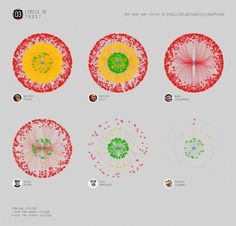 Circle of Trust - How asymmetric are your relationship on Google Plus / project by @d3estudio | CreativeApplications.Net #circle #infographic #trust