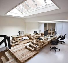 Brandbase Pallets by Most Architecture Dezeen #office #space #work