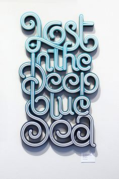 Lost in the deep blue seaTypography Exhibition on Typography Served #typography