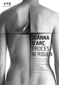 Joan of Arc, the process of the Rouen theater poster 2010 #curve