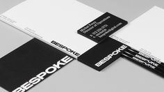 Custom typeface, stationery and business cards by New York based graphic design studio DIA for boutique retouching business Bespoke