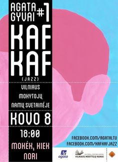 Kaf Kaf Gig Poster on Behance #music #pink #poster
