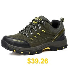 Men #Outdoor #Stylish #Anti-slip #Hiking #Sports #Shoes #- #ARMY #GREEN