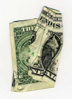 cash rules everything around me : Dan Tague #text #money #art