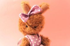 Claire handmade mohair plushie by lelelerele on Etsy #plush #bunny #ooak #exclusive #doll #unique #handmade #softie #lelelerele